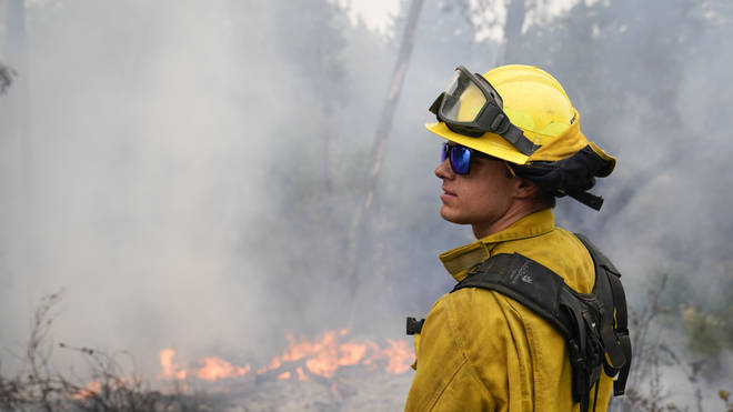 Firefighters are racing to prepare for worse weather conditions set to hit the area