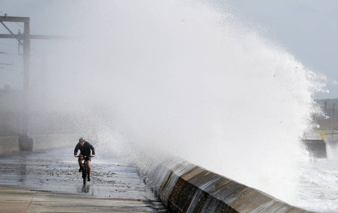 People have been warned to prepare for an 'unseasonably wet and windy spell' later this week. File pic.