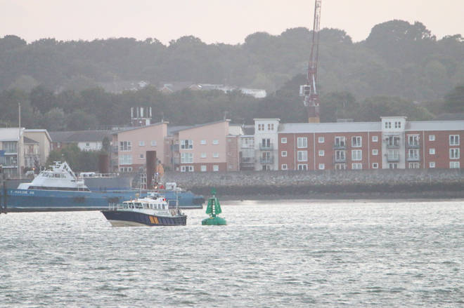 Southampton Harbour Master inspected the buoy off Hythe, Hampshire on Saturday