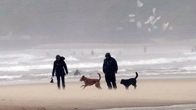 An amber weather warning has been issued across most of Wales and central England