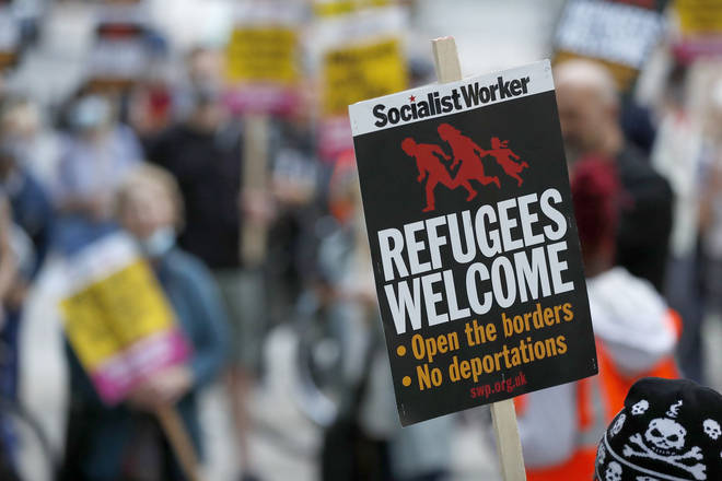 "Pro-migrant demonstrators have accused the Government of ""dehumanising and vilifying"" asylum seekers"