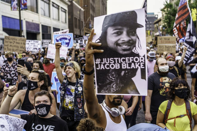 Protests have erupted over the shooting of Jacob Blake