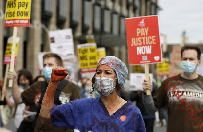 Health workers are in the final year of a three-year deal and are due a pay rise next April
