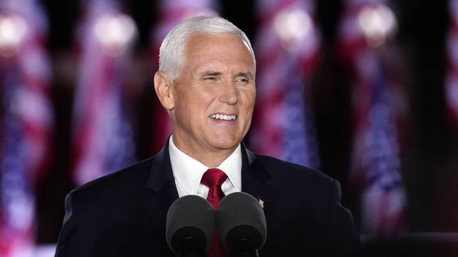 Vice President Mike Pence speaks on the third day of the Republican National Convention at Fort McHenry National Monument and Historic Shrine in Baltimore,