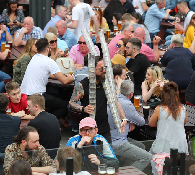 The public have been banned from boozing outdoors in Manchester over the bank holiday