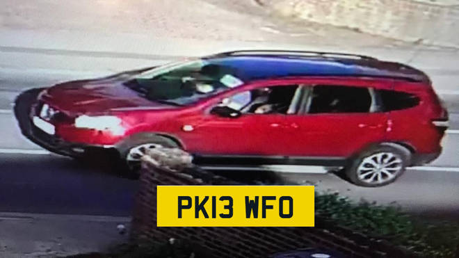 Police are asking for anyone who saw this red Nissan Qashqai on the day of the abduction to get in touch