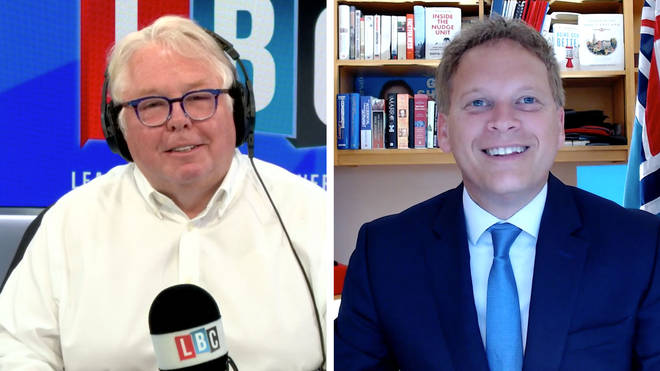 Nick Ferrari asked Grant Shapps why he wasn't at work
