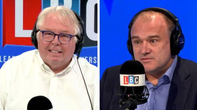 Nick Ferrari asked Ed Davey why almost half Lib Dem members didn't vote