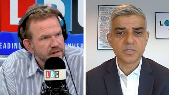 Sadiq Khan told James O'Brien that he wants the furlough scheme extended