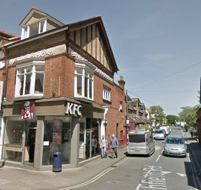 Officers were called to the High Street, Walton-on-Thames about 5.45pm following reports three men had argued inside the restaurant