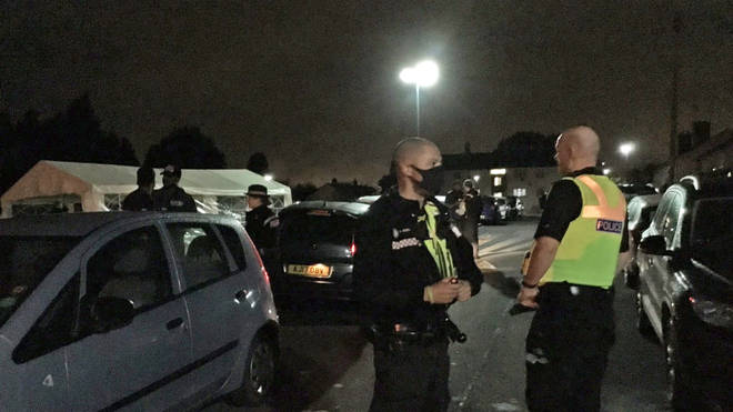 Police being called to a large street party in Northfield just after midnight