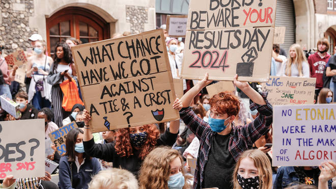 This year's results sparked fury after students results were downgraded