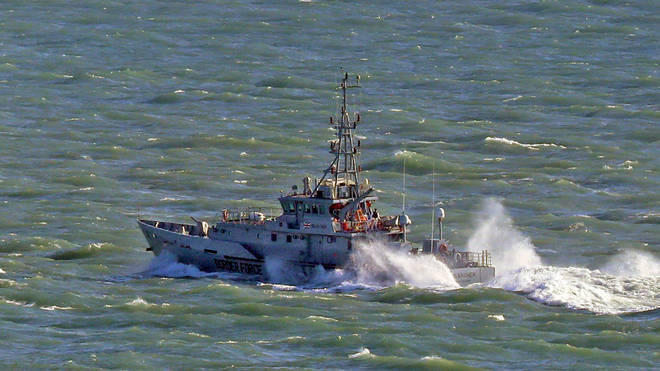 The swimmer was rescued 500m from the shore (file image)