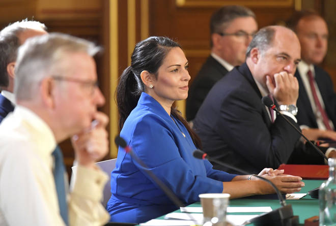 Home Secretary Priti Patel attended the meeting