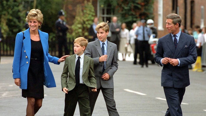 Diana (left) died in August 1997, when Harry (left) was 12 and brother William (right) was 15
