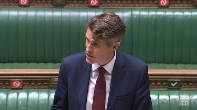 Gavin Williamson was speaking in the House of Commons on Tuesday