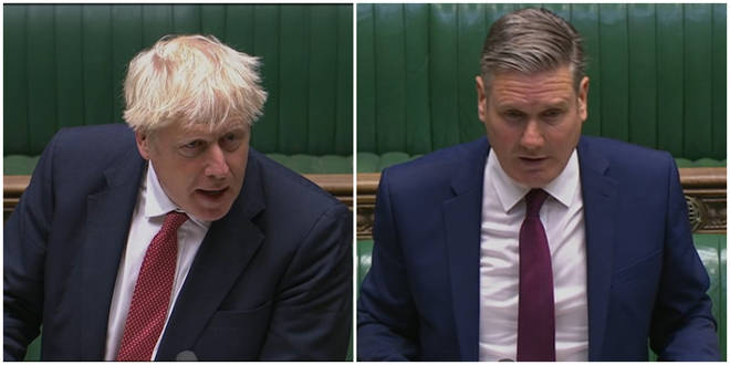 Boris Johnson and Sir Keir Starmer clashed in the Commons on Wednesday