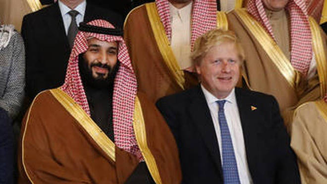 The Crown Prince Of Saudi Arabia visiting the UK in March 2018