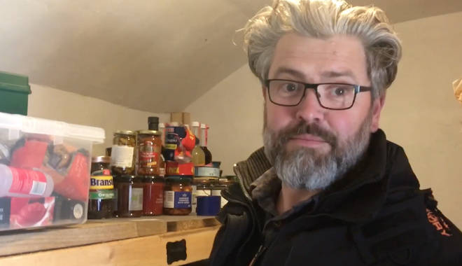 Howard Hardiman has started stockpiling food because of Brexit fears