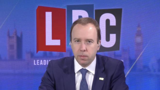 Matt Hancock spoke with LBC's Nick Ferrari on Thursday morning