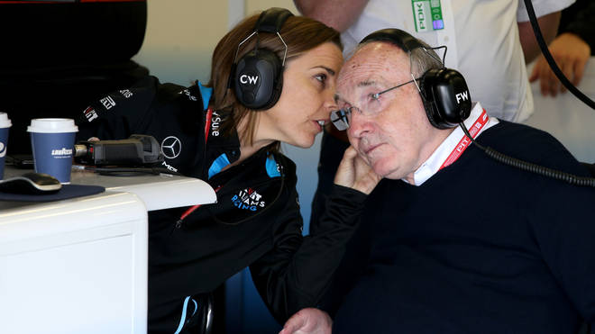 Sir Frank Williams and Claire Williams at the F1 Grand Prix of Great Britain at Silverstone