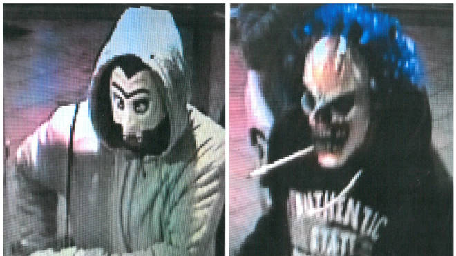 CCTV Images Masked Men