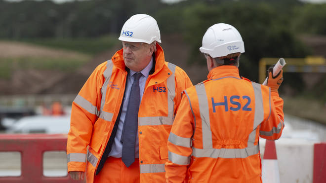 Mr Johnson during a visit to Solihull on Friday
