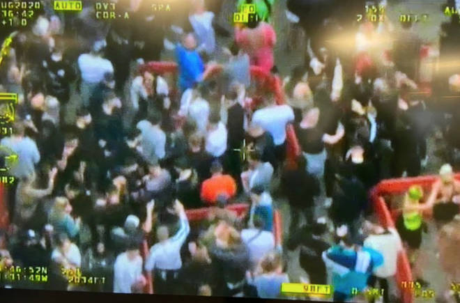 Police issued CCTV of an illegal rave in Leeds