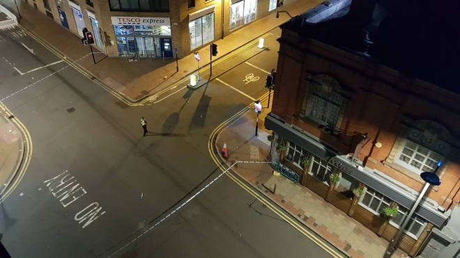 A police cordon is in place in Birmingham city centre