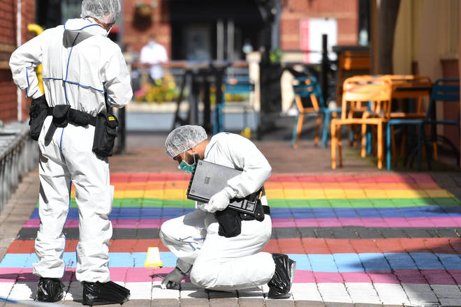 Witnesses have described how a knifeman launched an attack in Birmingham in the early hours of Sunday