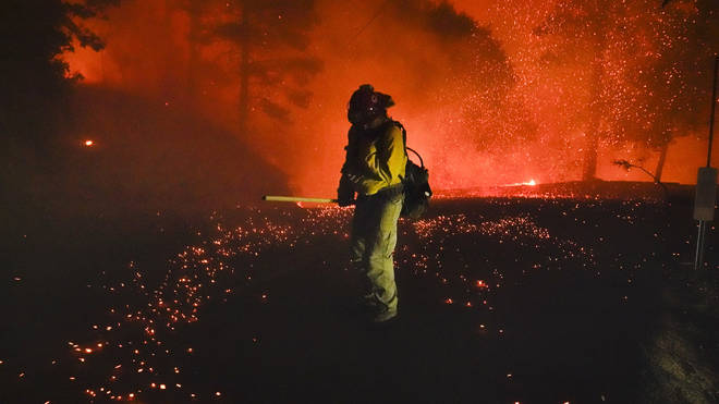 Dozens of fires are ripping across California amid record-breaking temperatures