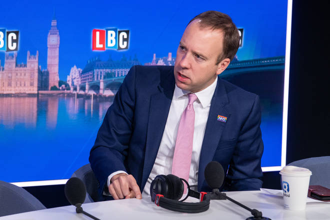 The Health Secretary was taking calls from listeners on LBC's first Call The Cabinet