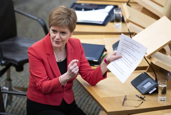 "Nicola Sturgeon has said there is a ""definite trend"" of rising case numbers across Scotland"