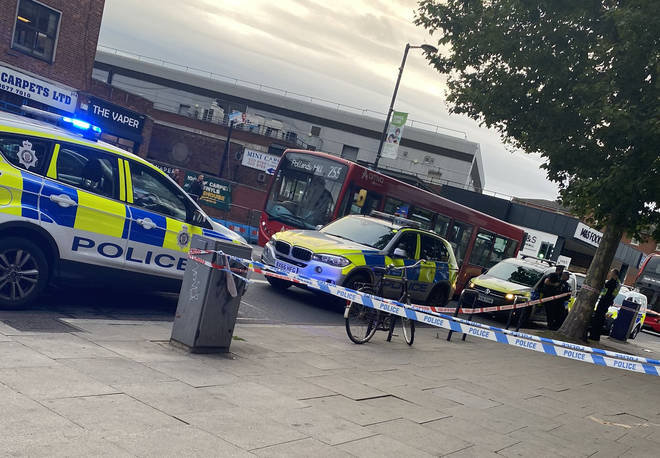 Two men were hospitalised after the stabbing in Streatham on Monday