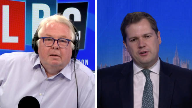 """ you're leaving people effectively in fire traps but you're building new homes,"" Nick Ferrari told Robert Jenrick"