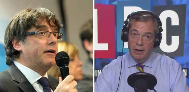 Carles Puigdemont Nigel Farage