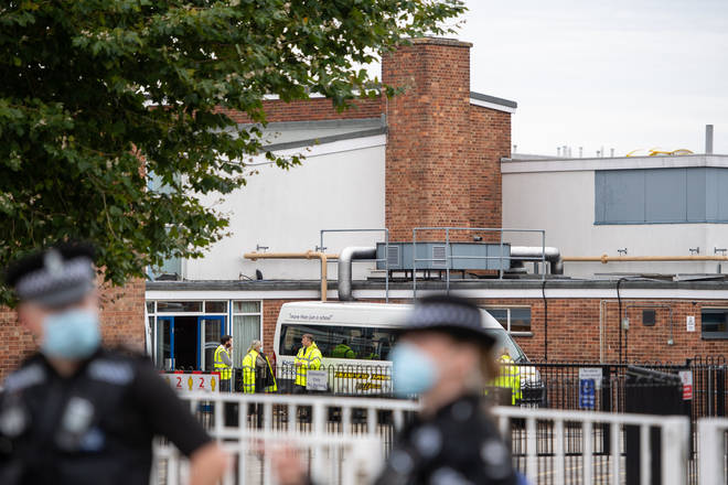 The shooting was near Kesgrave High School