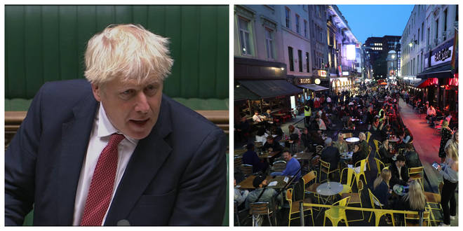 Boris Johnson announced a crackdown on gatherings