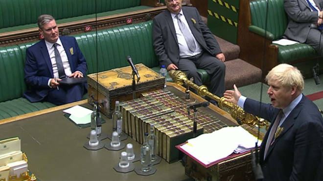Boris Johnson and Sir Keir Starmer clashed at PMQs on the issue of tests