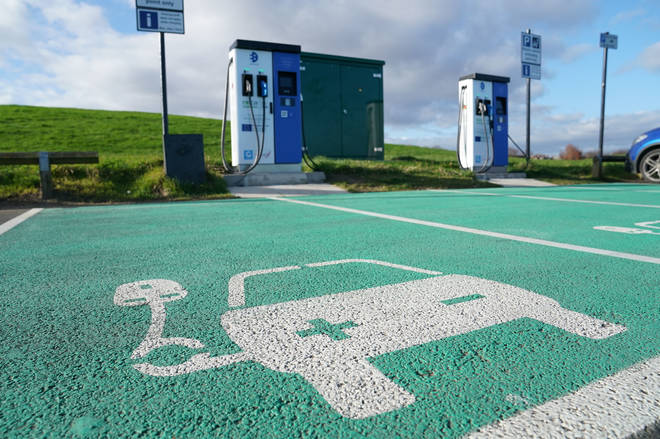 File photo: Electric vehicle charging points