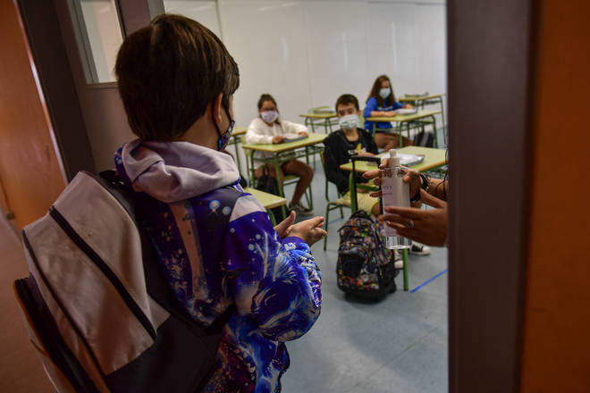 Millions of Spanish children have returned to school