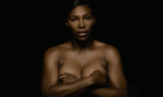 Serena Williams singing topless