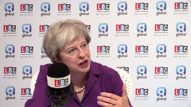 Theresa May speaking to Nick Ferrari from the Conservative Party Conference