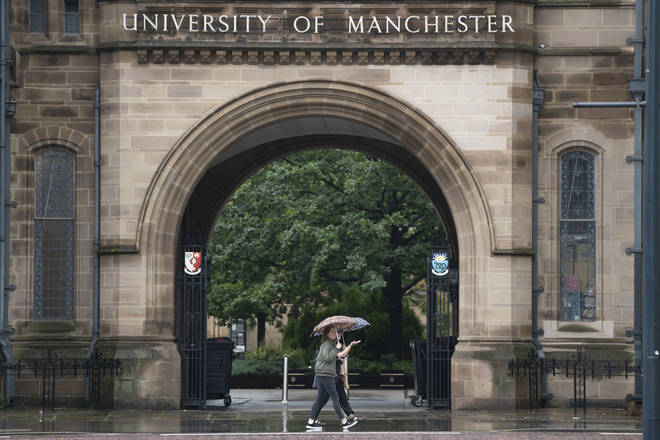 Manchester University said students could be excluded for flouting social distancing