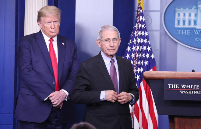 Anthony Fauci has often been at odds with the US president during the pandemic