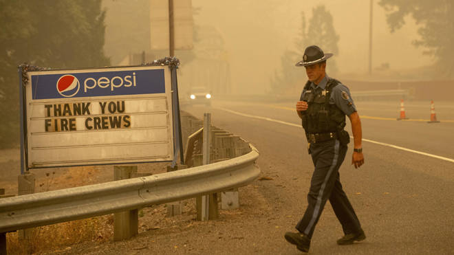 Wildfires have been sweeping the west coast of the US for days