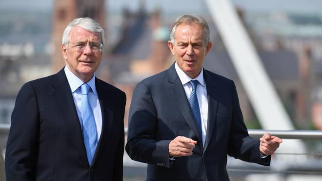 Sir John Major (L) and Tony Blair (R) have united against Boris Johnson's Brexit legislation