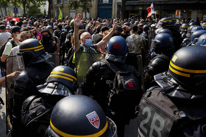 Police and protesters clashed in Paris this weekend
