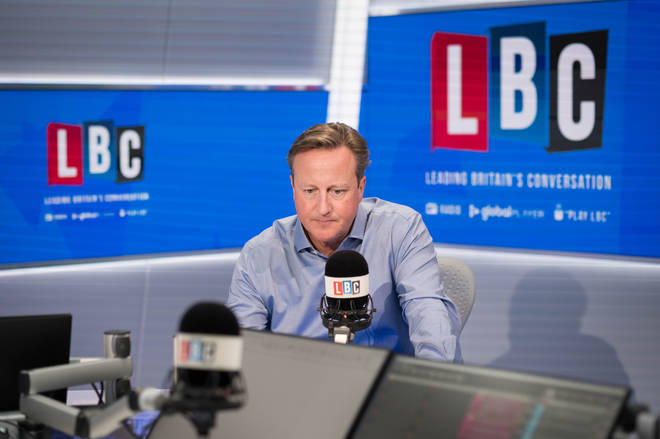 File photo: Former prime minister David Cameron during an interview with LBC's Nick Ferrari