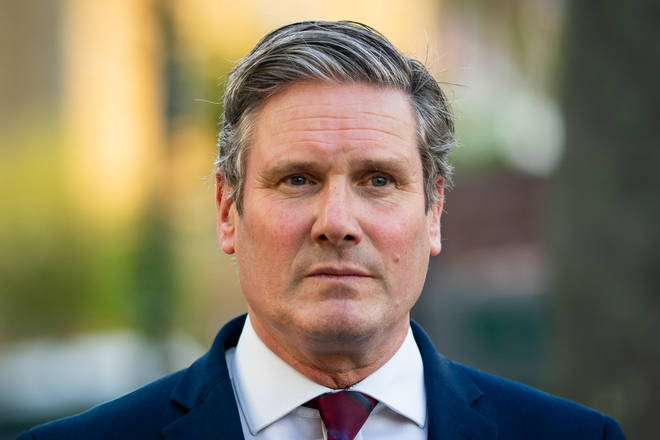 File photo: Labour leader Sir Keir Starmer is self-isolating